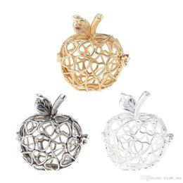 Encantos em forma de mão on-line-Jóias Pulseira Colares DIY feitos à mão em forma de maçã medalhão gaiola de bola pingente de montagens pode abrir encantos de jóias DIY fazendo