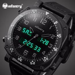 5f108cfdfdb Relógios de INFANTARIA Dos Homens Top Marca de Luxo Analógico Digital Watch  Men Big Esporte Relógios para Homens Relogio masculino de Couro desconto ...