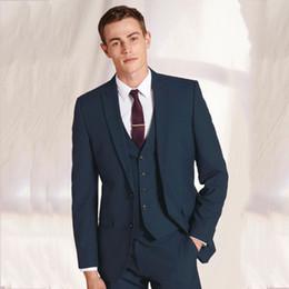 pieza de esmoquin parte trasera Rebajas Custom Made Latest Coat Chaquetas Designs Men Suit Wedding Formal 3 Piezas Tuxedo Slim Fit Blazer Chaqueta para hombre con pantalones Chaleco