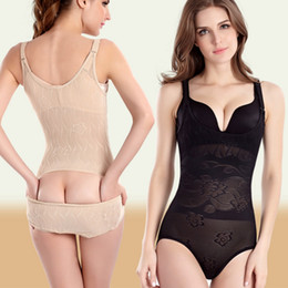 Wholesale Tummy Suit - Sexy Women Bodysuits Slimming Suit Underwear Body Shaper Waist Cincher Waist Corsets Shapewear Tummy Control Easy To Wc