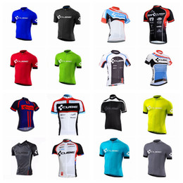 Wholesale team cube cycling jerseys - CUBE 2018 team Cycling Short Sleeves jersey 100% Polyester Breathable Cycling Jerseys Summer Quick-Dry Ropa Ciclismo A42108