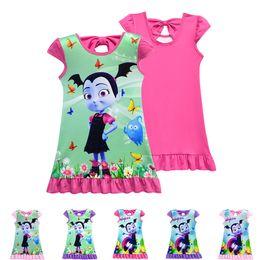 80e9fe23da0 Vampirina girls dresses 6 designs 2~10 years old kids baby girls dress  Vampirina Printed kids summer dress kids clothing DHL LA872
