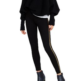 Wholesale Womens Tight Clothes - 2017 autumn sweatpants casual black womens clothing tight pants women high waist pants