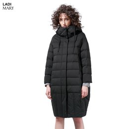Wholesale Short Down Jacket Hood - LADIMARY Women's Winter Zipper White Duck Down Down Jackets High Quality Warm Female Parka Hood Over Coat For Women LM360085