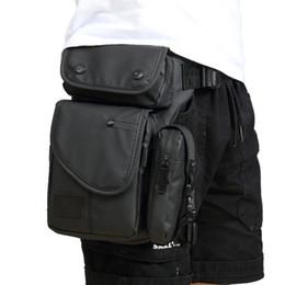Bolsa de pierna impermeable online-Impermeable Oxford Hombres Leg Drop Bag Fanny Pack Motocicleta Rider Cinturón de viaje Cintura Bolsa Cross Body Hip Bum Muslo Bolsa
