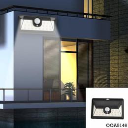 24LED Energía Solar Luz Sensor de movimiento Al aire libre Jardín Gran Angular Lámpara de pared Impermeable Yarda Luces Jardín Decoraciones OOA desde fabricantes