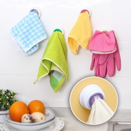 Clip de gancho de toalha on-line-200 pcs pano de Lavar Rag Clip Otário Gancho Toalha De Armazenamento De Rack de Cozinha Pendurado Pano De Limpeza Titulares Banheiro Prateleiras Da Cozinha Ferramenta acessórios