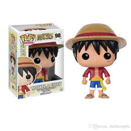 figura de navio de uma peça por atacado Desconto ATACADO Funko POP One Piece PMONKEY. D. LUFFY Vinil Figura de Ação Com Caixa de Brinquedo Popular Frete Grátis caçoa o presente