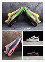 info for e26bc 3ae5a Nuevo 97 híbrido 1 azul claro negro zapatillas zapatos de alta calidad  mujeres hombres 1 97 entrenador zapatilla deportiva zapatos