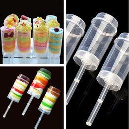 Plástico para pops on-line-Os mais recentes bolo Empurre Pop Containers Baking Limpar Push-Up Bolo Pop Shooter (push Pops) Contentores de plástico I387