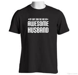 Idea di regali di anniversario online-Awesome Husband Mens T shirt Anniversary Wedding Birthday Idee regalo di Natale