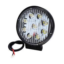 Внедорожные автомобили онлайн-27W 12V Car Led Work Light LED Bar Offroad Light Bar 6000K Spot Round Square Fog Lamp For  Offroad Vehicle Car Accessories