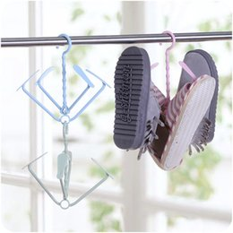 Wholesale hat storage - New Nordic multifunctional creative hanging shoe rack 360° mobile home plastic wind hanging shoe rack storage rack shelf