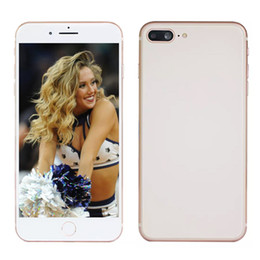 Wholesale dual screen gsm mobile phone - Cheapest Goophone i8 Plus 8P 5.5inch 512MB 4GB Show 4G lte Show 256GB Android 2G GSM Network Unlocked Cell Mobile phone