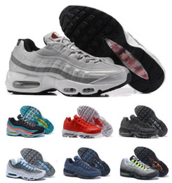 Wholesale Fusion Sports - Cheap Air Cushion 95 Running Shoes Sneaker Men Man White M 95s OG 25th Surface Breathable Tennis Sports Trainer Zapatos Hombre Fusion Shoe