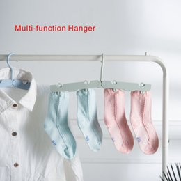 Wholesale Trousers Hangers - New Multi-function Hanger Sturdy Slim Lightweight Clothes Hangers Holder with rotary hook 4 colors are optional.