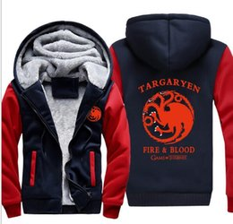 Wholesale House Hoodies - wholesale Free Shipping Stylish New Style Tharges House Of Targaryen's Different Game Graphic Hoodie
