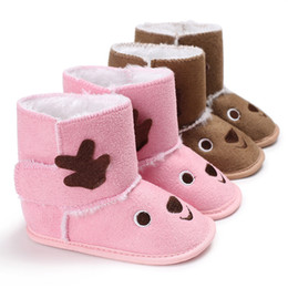 0eedc2444cc Christmas Elk Baby Soft Sole Snow Boots Soft Crib Shoes Winter Warm Plush Baby  Girls Snow Boots 9.13