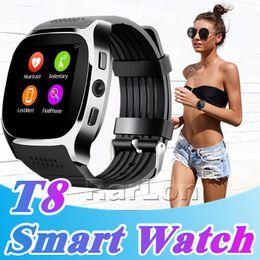 2019 женские часы android Лучшие T8 Smart Watch шагомер часы поддержка SIM-карты TF с камерой синхронизации вызова сообщение Мужчины Женщины Smartwatch для Android SmartWatch дешево женские часы android