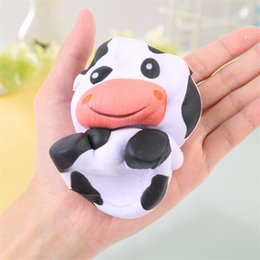 Wholesale models crafts - Cow Model Squishy Decompression Toy Pu Simulation Soft Arts And Crafts Imilation Slow Rebound Aroma Toys 13 5mz W