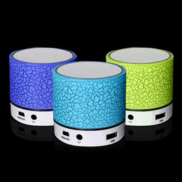 Wholesale X Mini Speakers - Wireless Speaker Bluetooth Mini Speakers A9 Led Colored Flash Speaker FM Radio TF Card USB For iPhone X 8 Mobile Phone PC S8