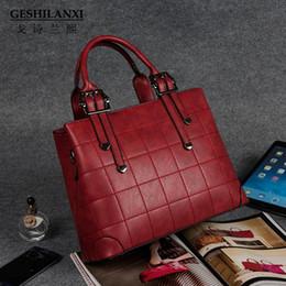 Wholesale ms cashmere - Geshilanxi 2017 Top - Handle Bags Famous Brands Women Handbag Designer Totes Female Shoulder Bag Style Crossbody Pu Leather Ms