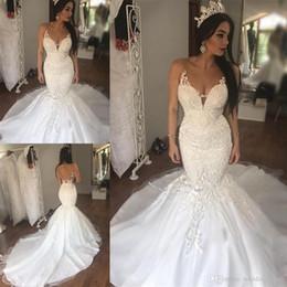 Vestidos de novia corte sirena espalda descubierta