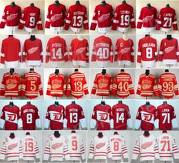 steve yzerman jersey Rebajas Detroit Red Wings Camisetas Hockey 13 Pavel Datsyuk 40 Henrik Zetterberg 8 Justin Abdelkader 19 Steve Yzerman 71 Larkin 91 Sergei Fedorov