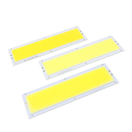 Wholesale Floor Lighting Strips - DC12V COB LED Panel Strip Light Chip 10W Lamp Bulb Car Light Source Warm White Pure White For Car DIY Spotlight Floor Lighting