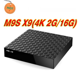 Melhor media player wi-fi on-line-Melhor preço 2 GB 16 GB M9S X9 4 K Android 6.0 Inteligente Caixa de TV IPTV Bluetooth RK3229 WiFi 4 K Media Player