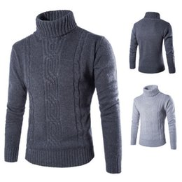 Wholesale Thermal Computer - Men's Thermal High Collar Turtle Neck Skivvy Long Sleeve Sweater Stretch men's turtlenecks pullover Turn-down collar sweater