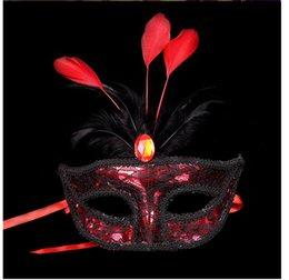 Argentina 50 unids azul máscaras venecianas mujeres de la manera se enfrentan a la fiesta de la boda de la mascarada sexy máscaras de plumas balón italiano de halloween envío gratis Suministro