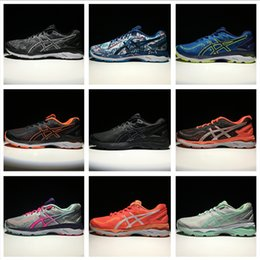 Wholesale Yellow Wrestling Shoes - Asics GEL-KAYANO 23 Men Women Running Shoes Top Quality Cheap Training 2018 Lightweight Walking Sport Shoes Free Shipping Size 4-11