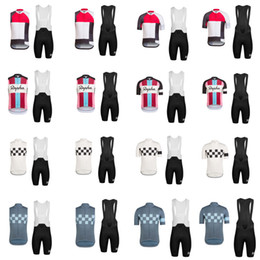 Wholesale Green Cycling Kit - New arrival goods Rapha team Cycling sleeveless Jersey Short Sleeves Summer mens Cycling Clothes Bike Wear Breathable bib shorts kits F60602