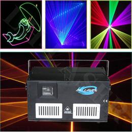 Wholesale Laser Blue Ttl - 4.5W RGB full color laser light With SD Card animation TTL modulation laser show system (free I show inside )