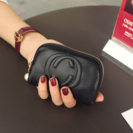 Wholesale Women Pocket Money - Vananya Designer brand Women Wallet vintage letters Purses fashion Coin Purse Female genuine leather Wallet Lady Purse For Girls Money Bag