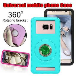 caixa de telefone de silicone de polegada universal Desconto Estojo universal de telefone de couro casos de cobertura de volta com suporte de anel para iphone Samsung para todo o telefone móvel de 3,5 a 6,1 polegadas