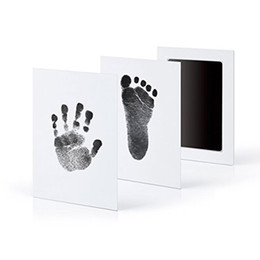 Wholesale foot cast - Non-Toxic Baby Handprint Footprint Imprint Kit Casting Parent-child Hand Inkpad hand-foot stamp pad Infant Keepsakes Toys 6 colors C4799