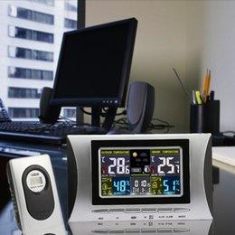 sensor de temperatura de pantalla lcd Rebajas Reloj despertador digital con temperatura y humedad Reloj meteorológico Sensor remoto con pantalla LCD Decoración del hogar Interior exterior