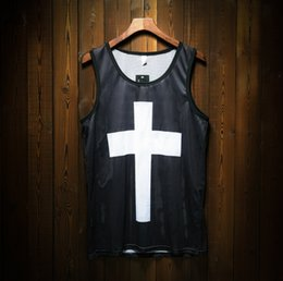 black hip hop vests Coupons - Man Sleeveless Tops Fast Dry Hip-hop Fitness Vest Gym Sports Running Tank Tops