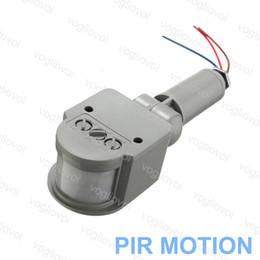 automóvil Rebajas Sensor de movimiento infrarrojo ligero de 50W 100W de PIR para el proyector del jardín Luces al aire libre Plástico Negro Gris Movimiento de la inducción del cuerpo humano auto DHL
