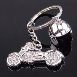 Wholesale helmet keyring - High Quality Motorcycle Helmet Keychain 3D Smart Keyring Creative Motorcycle Key Chain Ring For Men Women Pendant Gifts Free DHL H66F