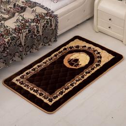 Wholesale Livingroom Carpets - 75x120cm Muslim Prayer Carpet Outdoor Garden Rug Pilgrimage Big Carpets For Livingroom Home Parlor Bedroom Bedside Rectangle Rug