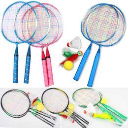 Wholesale 95 cartoon - 1 Pair Youth Children's Badminton Rackets Sports Cartoon Suit Toy for Children B2Cshop