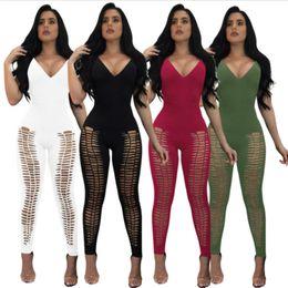 d65c050a406f mesh hollow jumpsuit Australia - Women Ladies Clubwear Summer Slim Playsuit  Bodycon Party Jumpsuit Romper Trousers