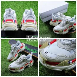 062b66bc5c65 2018 Paris Triple-S Designer Luxury Shoes Low Top Sneakers Triple S Men s  and Women s Casual Shoes Outdoor Sports Trainers Shoes size 36-45