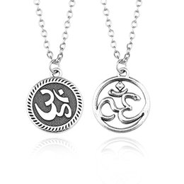 Wholesale ohm necklace - Vintage Yoga OM Pendant Necklaces Steampunk Amulet OHM Hindu Buddhist AUM OM Statement Necklace Fashion Sporty Jewelry Collares