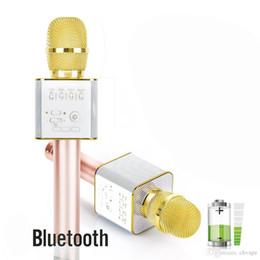 meilleurs microphones à fil Promotion Magic Q9 Microphone Bluetooth Sans Fil De Poche Micro fono KTV Avec Haut-Parleur Mic Haut-parleur Karaoké Q7 Mise À Jour Pour téléphone Android