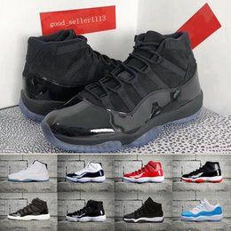 Wholesale Pink Prom Shoes - 2018 Black Out 11s Prom Night Basketball Shoes 11 Gym Red Chicago Midnight Navy shoe Space Jam PRM Heiress Bred men sports Sneaker