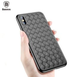 Wholesale Baseus Iphone Case - Baseus Weave Case For iPhone X IX Luxury Ultra Thin Slim Back Cover Case For iPhone x Capinhas Soft TPU Coque Fundas